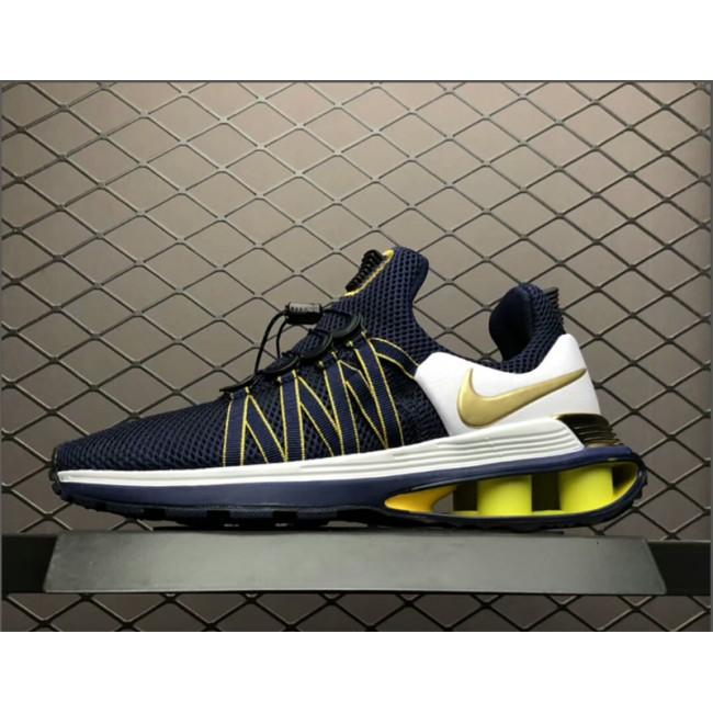 Mens Nike Shox Gravity Midnight Navy Metallic Gold