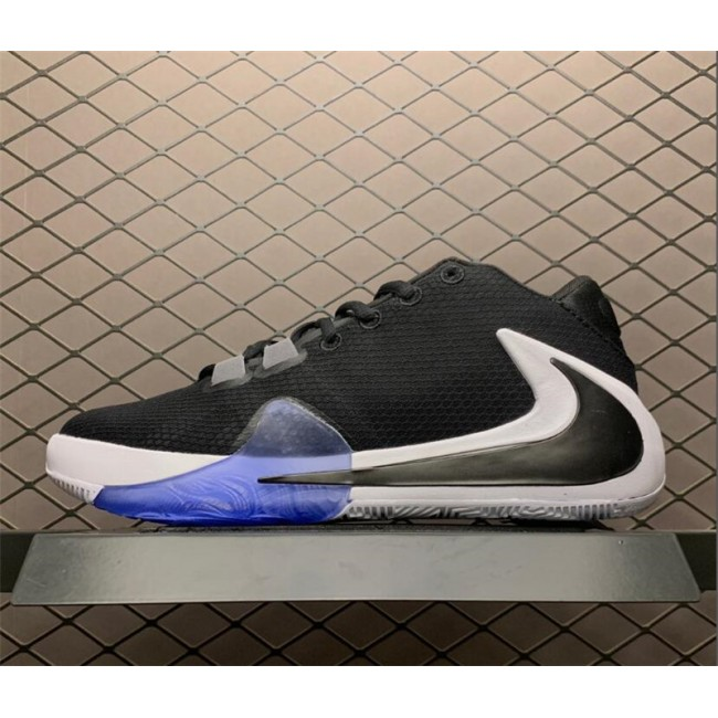 Mens Nike Zoom Freak 1 Black White-Lucid Green