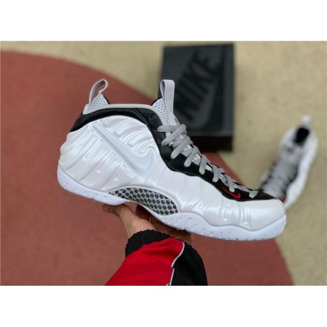 Mens 2020 Nike Air Foamposite Pro White University Red Black