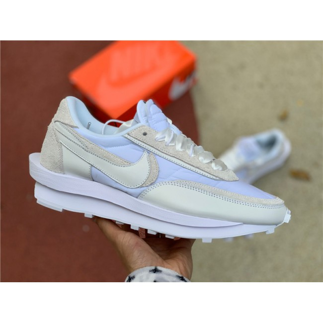 Mens/Womens 2020 Release Nike LDWaffle x Sacai White Nylon