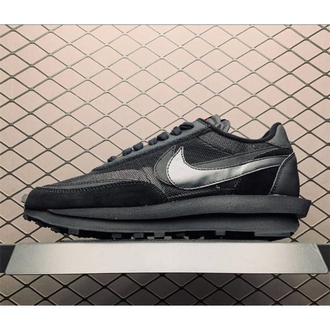 Mens/Womens Sacai x Nike LDV Waffle Triple Black On Sale
