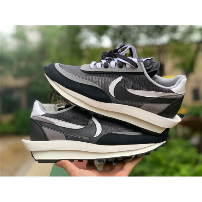 Mens/Womens Buy Nike LD Waffle Sacai Black White Shoes