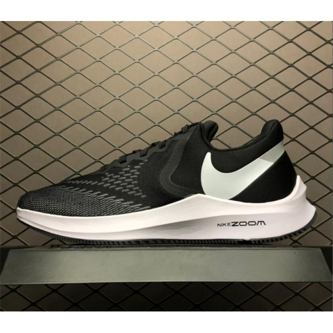 Mens Nike Zoom Winflo 6 Black White Dark Grey