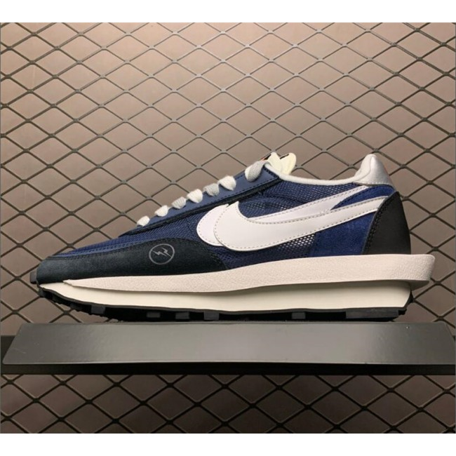 Mens/Womens Cheap Fragmentdesign x sacai x Nike LDWaffle Navy Blue
