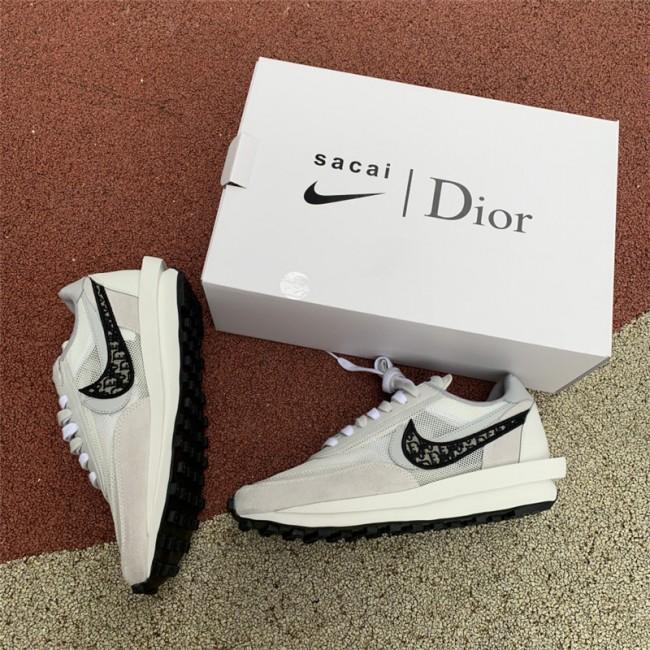 Mens/Womens Dior X Nike X Sacai Waffle Racer White For Sale