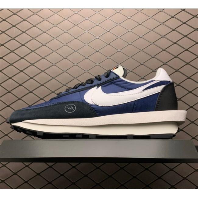Mens/Womens Fragmentdesign x sacai x Nike LDWaffle Navy Blue Black