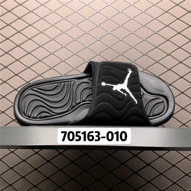 Mens Jordan 4 Hydro All Black Slide Sandals