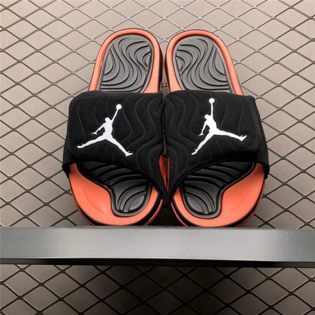Mens Jordan 4 Hydro Black Orange Slide Sandals