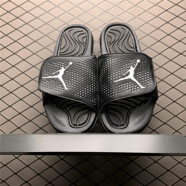 Mens Jordan Hydro 5 Black and White Slide Sandals