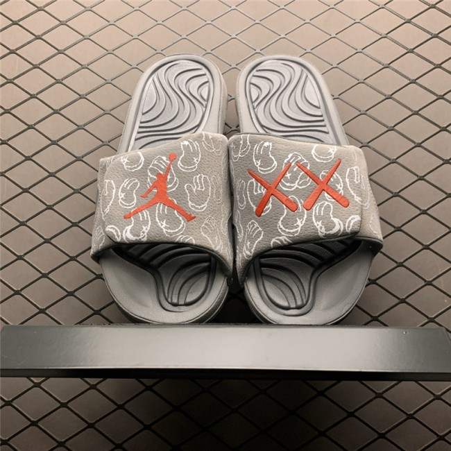 Mens Kaws x Air Jordan 4 Cool Grey Hydro Slippers Slides
