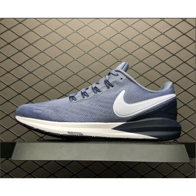 Mens Men Nike Air Zoom Structure 22 Navy Blue White