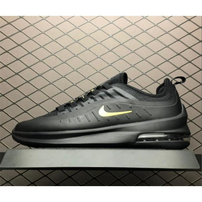 Mens/Womens Nike Air Max Axis Black Gold Running Shoes
