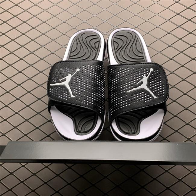 Mens Jordan Hydro 4 Retro Black/White Sandals