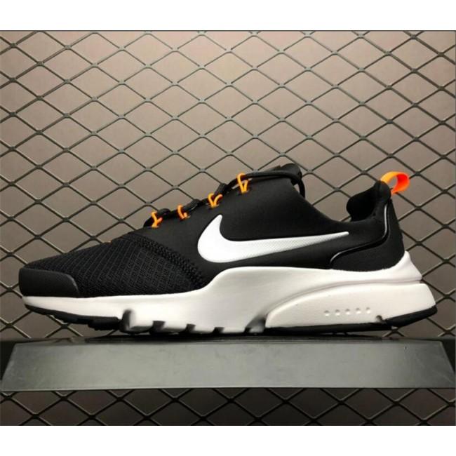 Mens Nike Air Presto Fly Just Do It Black Orange