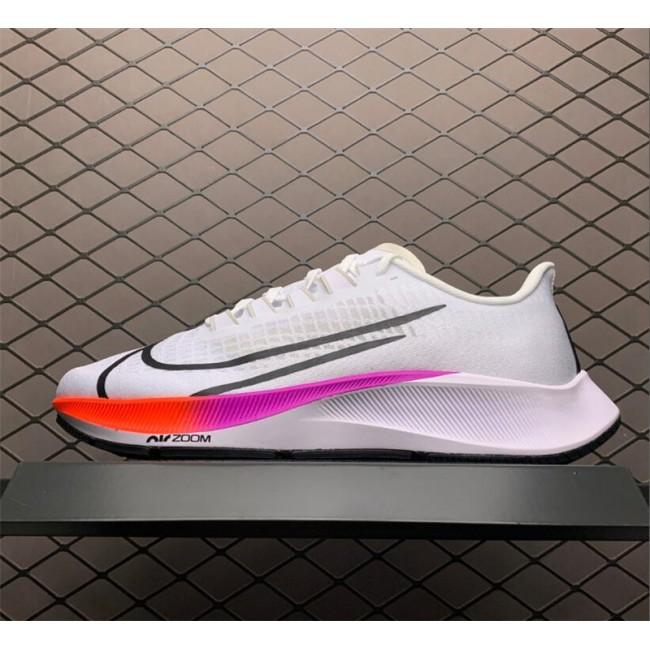 Mens Nike Air Zoom Pegasus 37 White Black Hyper Violet