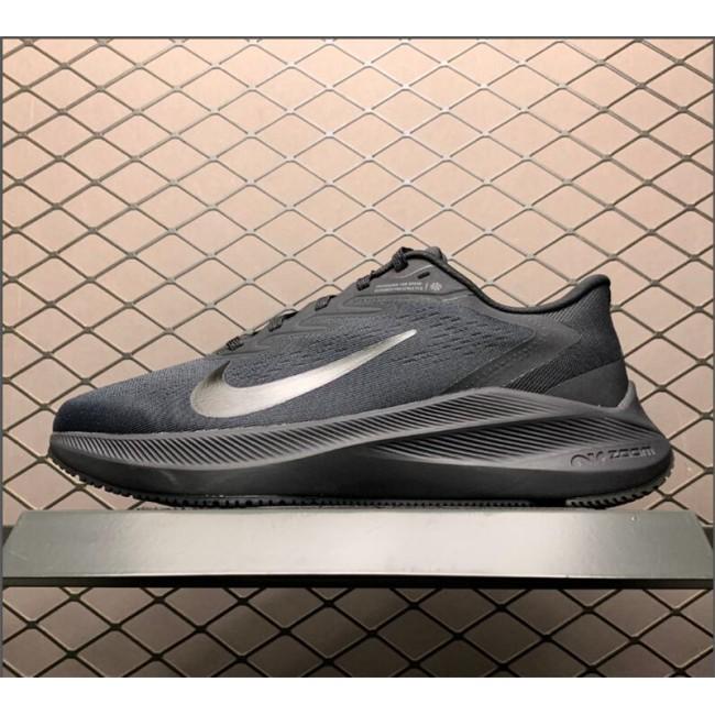 Mens Nike Air Zoom Winflo 7 Black Shoes Sale