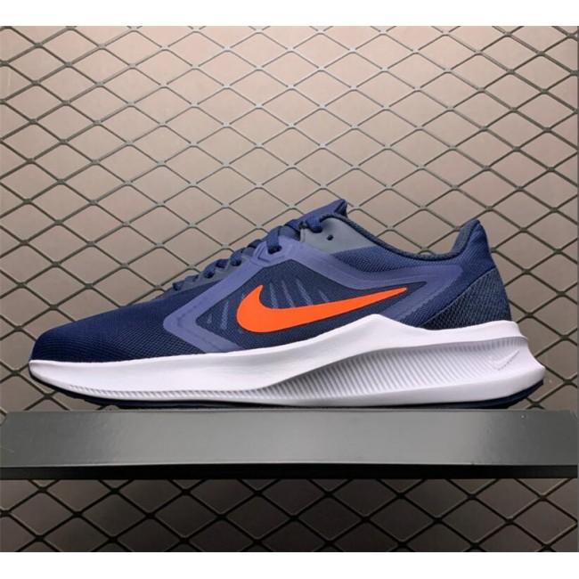 Mens Nike Downshifter 10 Midnight Navy White Orange
