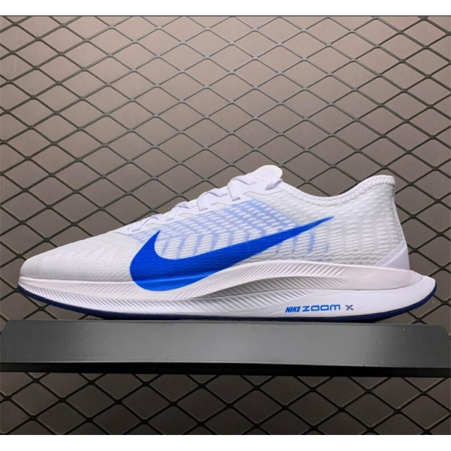 Mens Nike Zoom Pegasus Turbo 2 White Blue