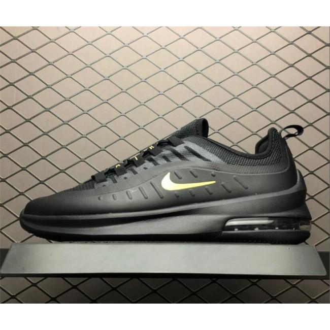 Mens/Womens Nike Air Max Axis Black Metallic Gold Running Shoes