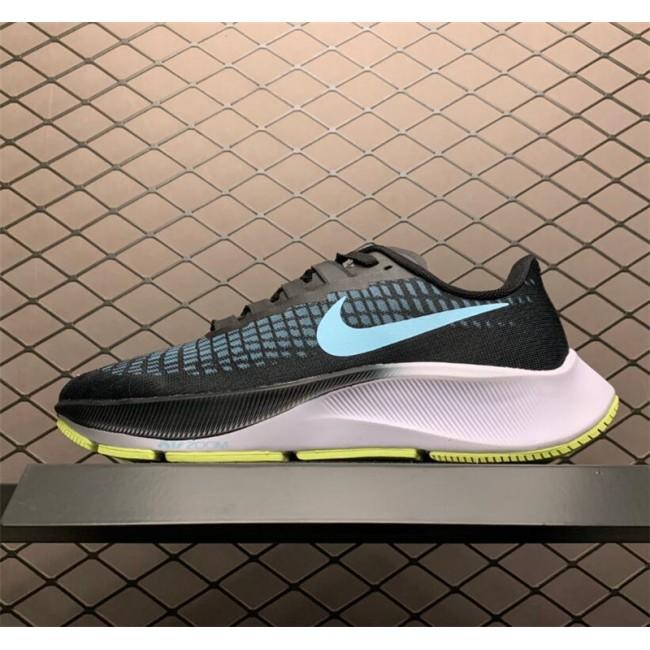 Mens/Womens Nike Air Zoom Pegasus 37 Black-Ghost Green White