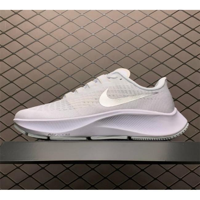 Mens/Womens Nike Air Zoom Pegasus 37 White Metallic Silver