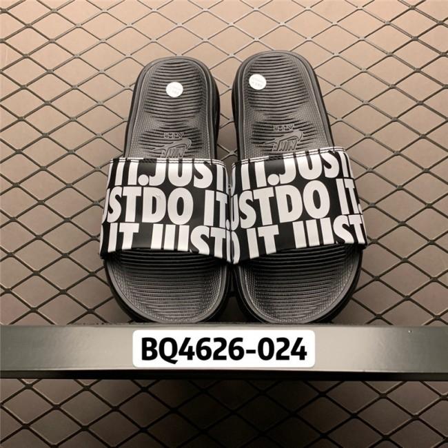 Mens/Womens Nike Benassi Just Do It. Print Black White Slide Sandals