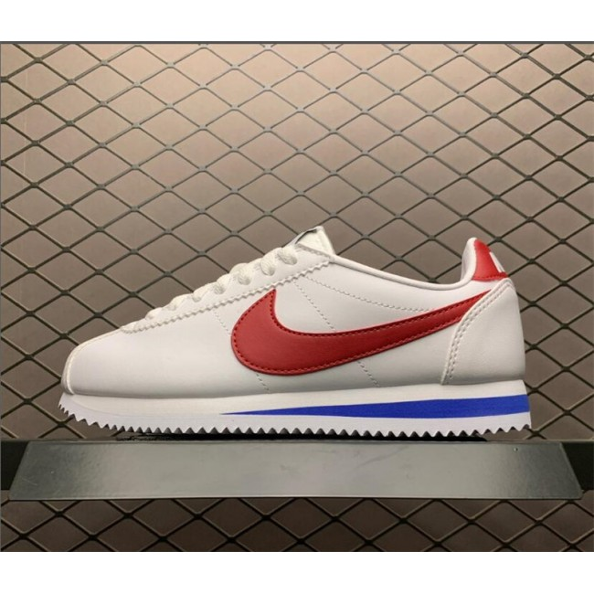 Mens/Womens Nike Classic Cortez Leather White Red Blue 807471-103