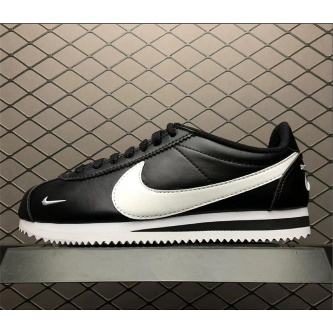 Mens/Womens Nike Classic Cortez Premium Mini Swoosh Black White