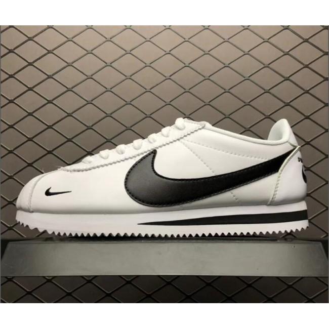 Mens/Womens Nike Classic Cortez Premium Mini Swoosh White Black
