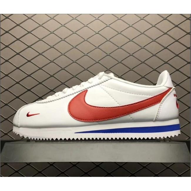 Mens/Womens Nike Classic Cortez Premium Mini Swoosh White Blue Red
