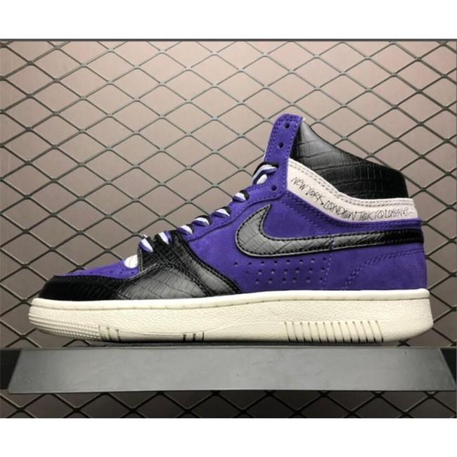 Mens Nike Court Force Hi Stussy Varsity Purple Dk Obsidian-Sail