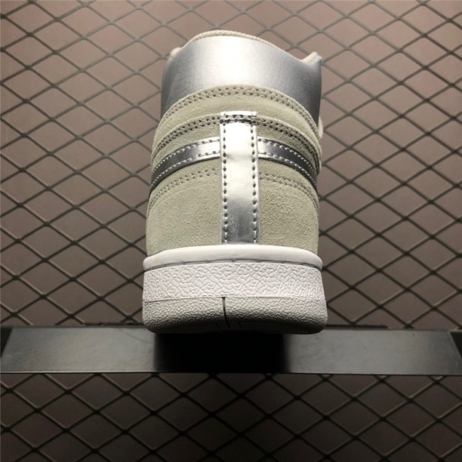 Mens Nike Court Force High Neutral Grey Metallic Silver-White