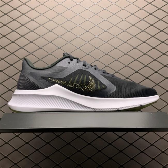 Mens Nike Downshifter 10 Black White Running Shoes