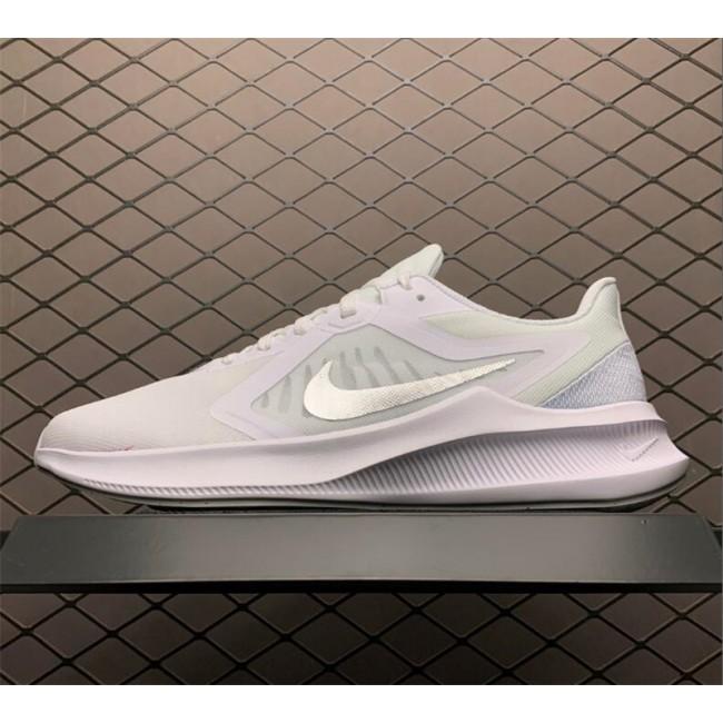 Mens/Womens Nike Downshifter 10 White-Metallic Silver
