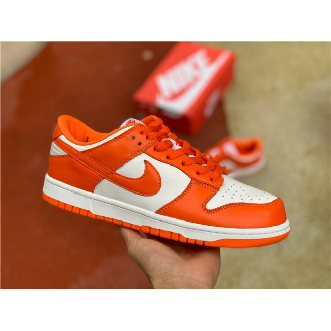 Mens/Womens Nike Dunk Low Syracuse White-Orange Blaze