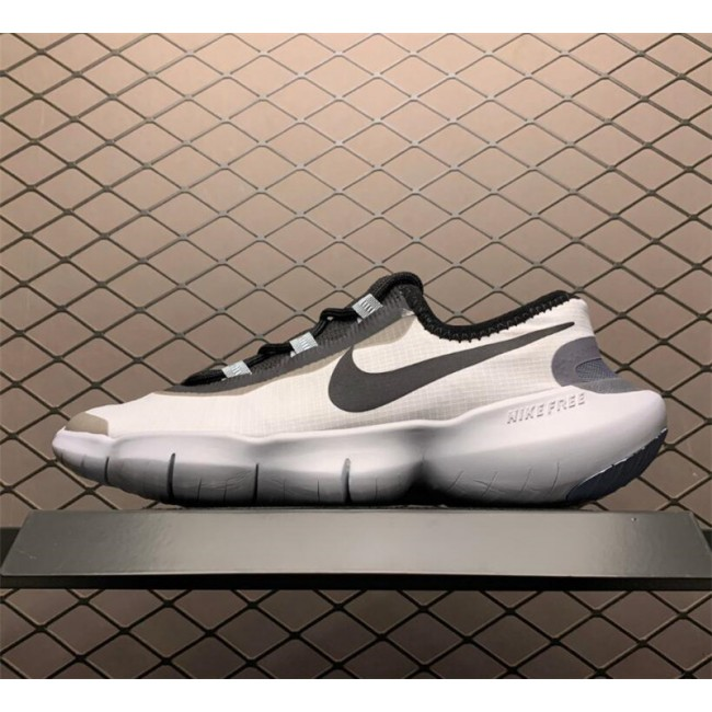 Mens Nike Free RN 5.0 White-Black-Blue Shoes