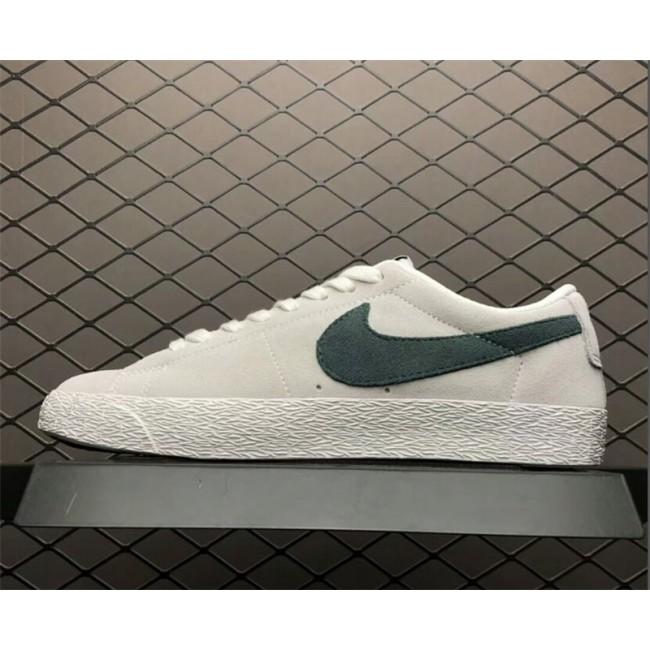 Mens/Womens Nike SB Zoom Blazer Low White Deep-Jungle 864347-101