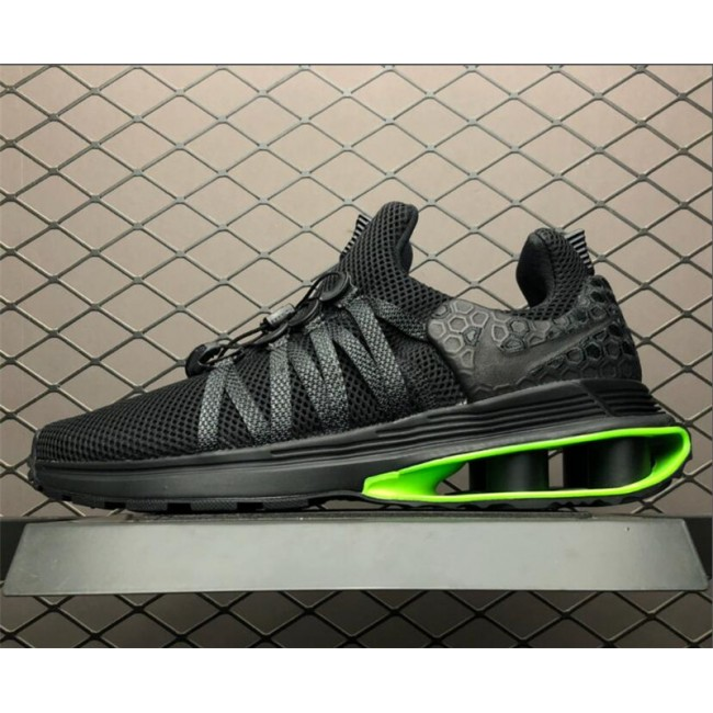 Mens Nike Shox Gravity Luxe Black Green Strike AR1470-003