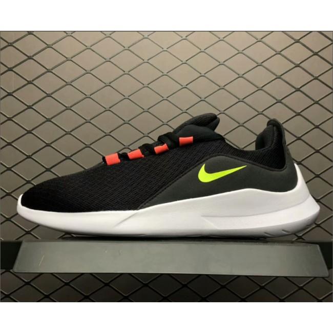 Mens Nike Viale Run Shoes Black Volt-Solar Red-White AA2181-001