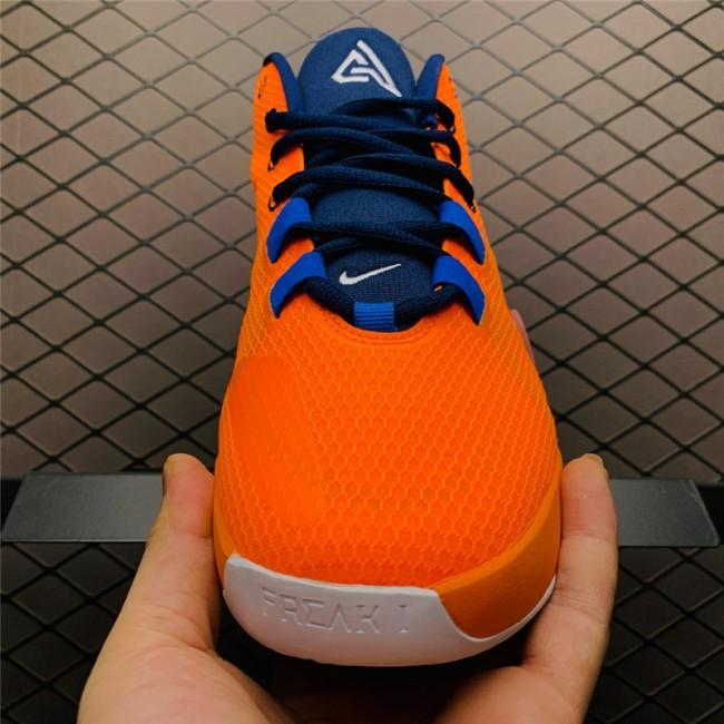 Mens Nike Zoom Freak 1 All Bros Total Orange Midnight Navy-White