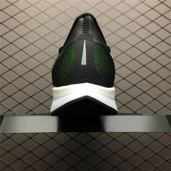 Mens Nike Zoom Pegasus Turbo 35 Black Green White Running Shoes