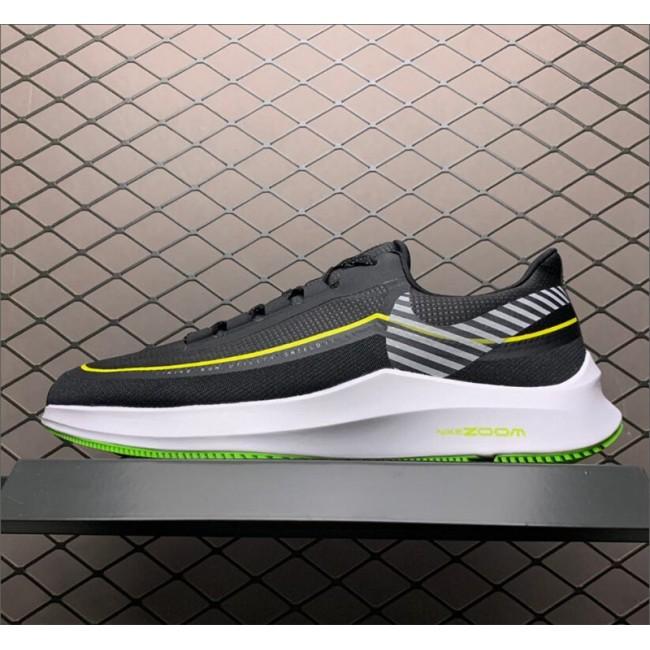 Mens Nike Zoom Winflo 6 Shield Black White Green