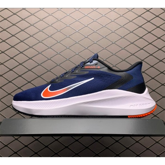 Mens Nike Zoom Winflo 7 Navy Bright Crimson White