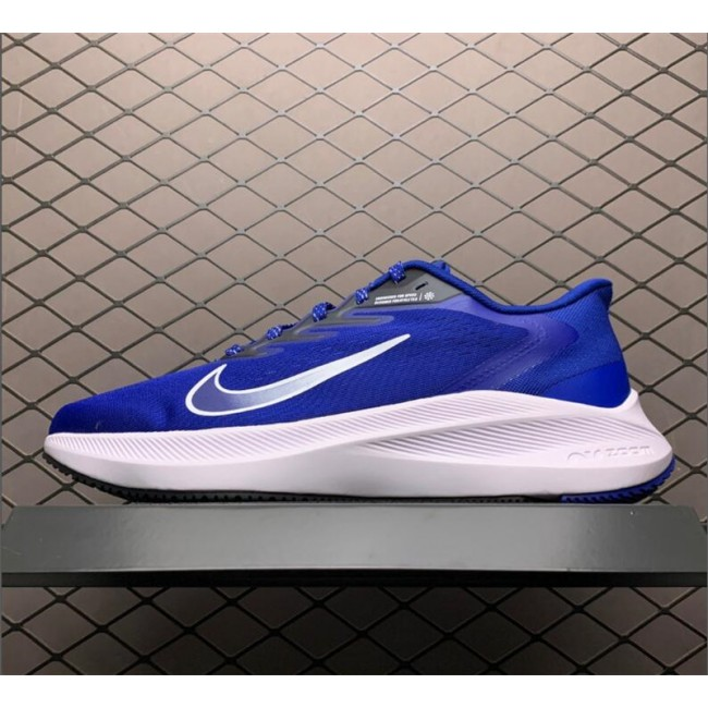 Mens Nike Zoom Winflo 7 Royal White Running Shoes