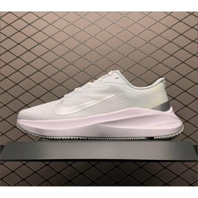 Mens/Womens Nike Zoom Winflo 7 Triple White Running Shoes