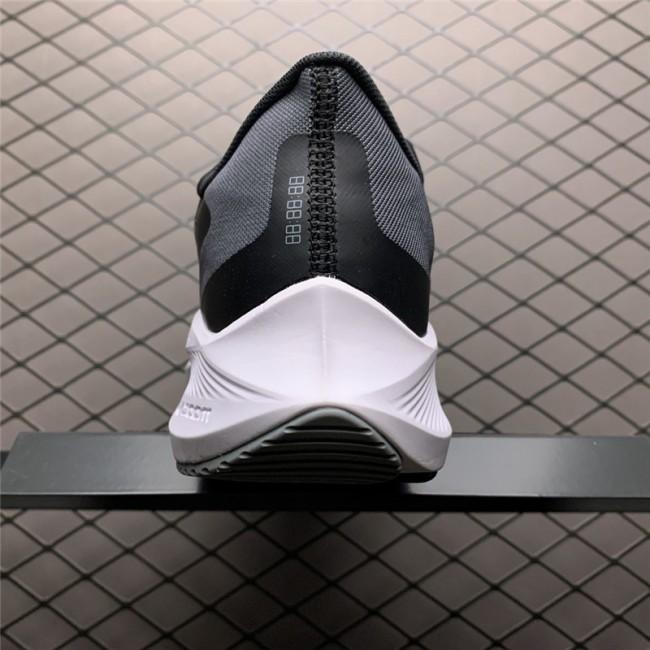 Mens Nike Zoom Winflo 7X Black Grey White Running Shoes
