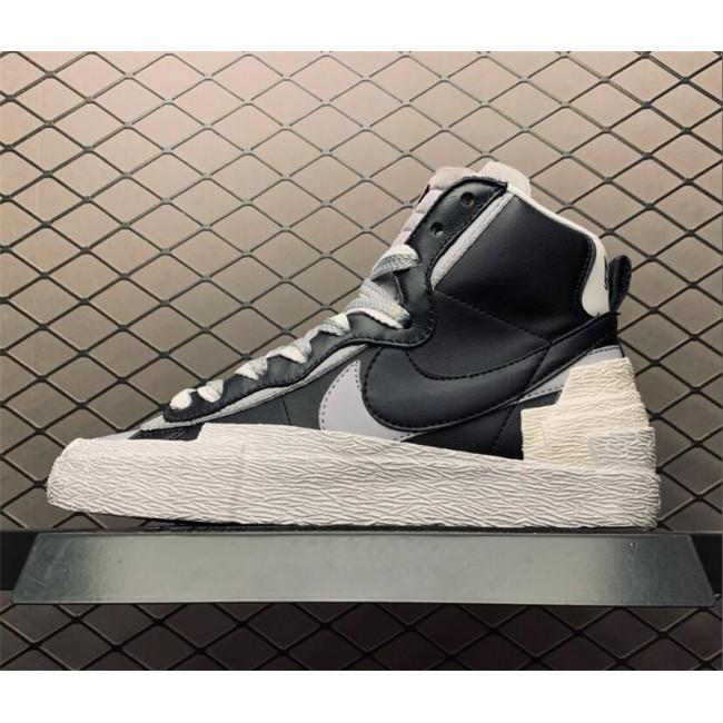 Mens Sacai Nike Hybrid Dunk Blazer Black White