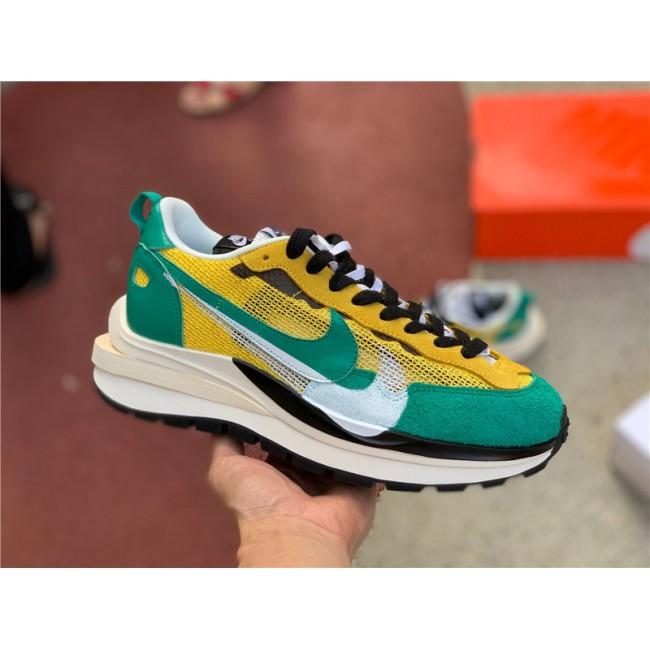 Mens Sacai x Nike LVD Waffle Daybreak Dark Yellow Green Black