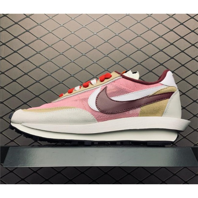 Mens/Womens Sacai x Nike LVD Waffle Daybreak Swoosh Pink Red White