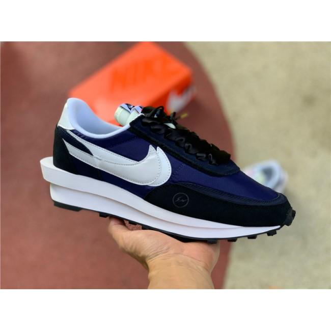 Mens/Womens Sacai X Nike LVD WAFFLE X Fragment Design Blue White